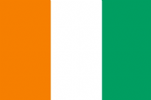 IVORY COAST - HAND WAVING FLAG (MEDIUM) (10)
